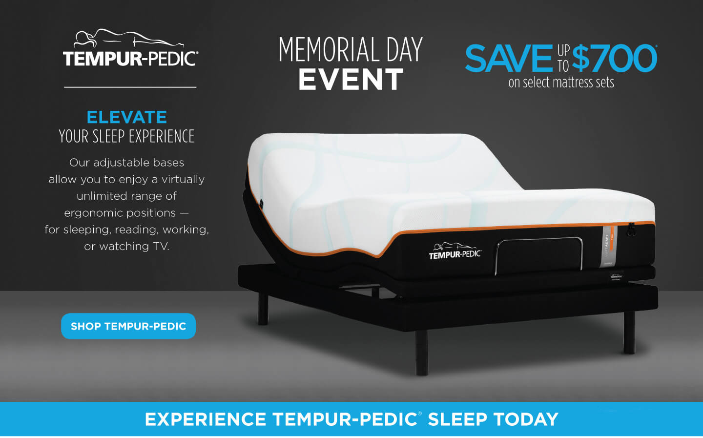 Tempur-Pedic Memorial Day Event